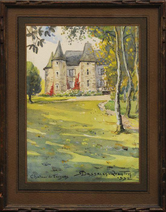 Dessales-Quentin - Chateau de Fargeas Uzerche cadre