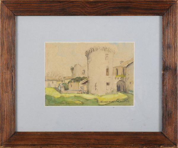 Dessales-Quentin - Chateau des Bernardieres Mareuil cadre