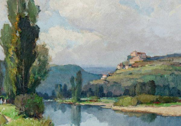Georges Charles Robin - Castelnaud Dordogne detail1