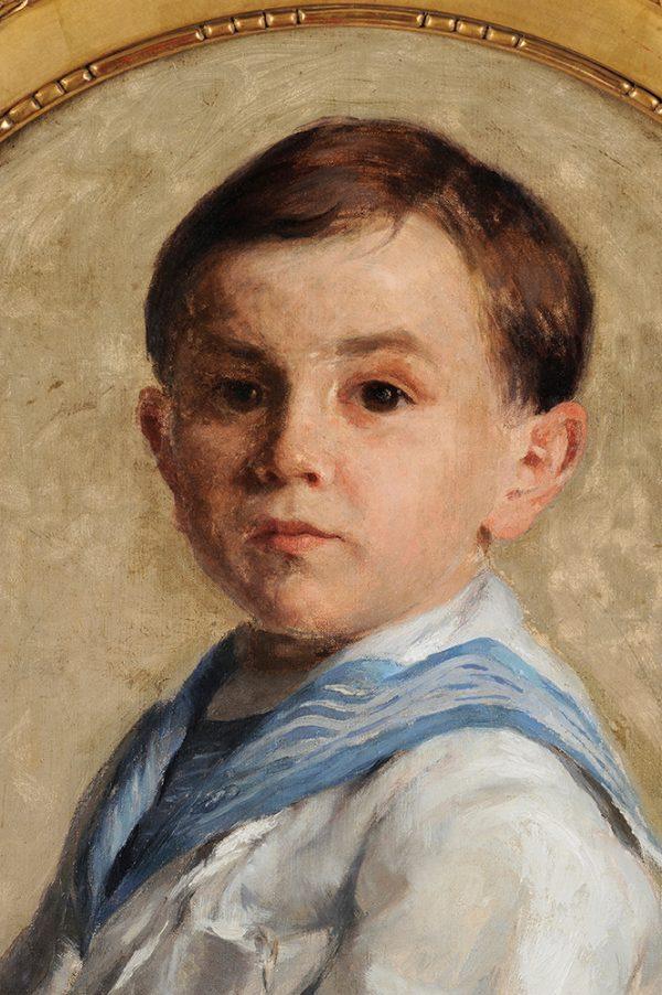 Leon-Pierre Felix - Portrait enfant detail