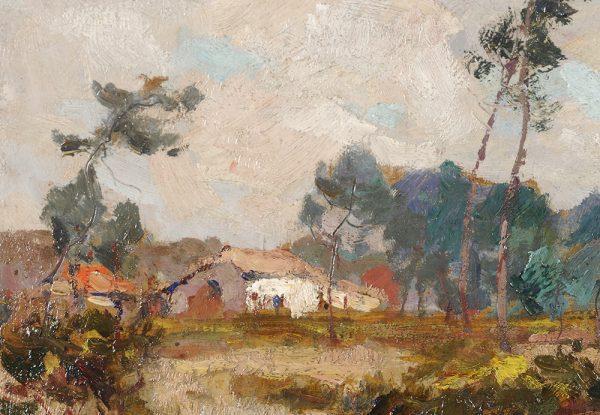 emile-chaumont-paysage-landes-maison