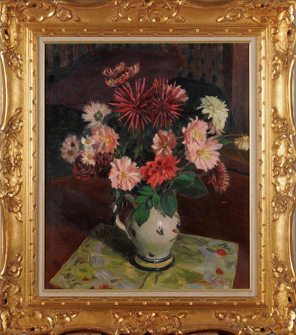 raymond-dufrene-bouquet-dahlias-pivoines-cadre
